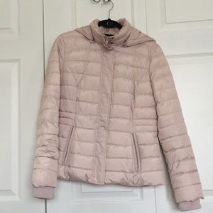 Adorable soft pink puffer jacket